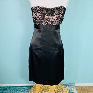 Sue Wong size 6 Black Strapless Evening Dress
